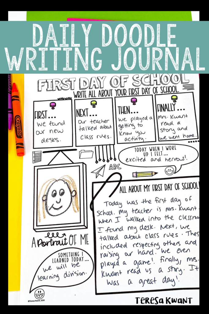 Daily Doodle Writing Journal for Upper Elementary Students